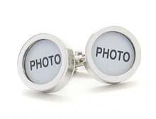 CUFFLINKS -  CUSTOMISE WITH YOUR OWN PHOTO OR MESSAGE