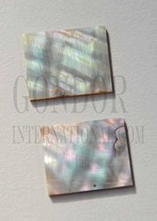1pc Green abalone blanks 18x22x1.3mm
