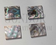 1pc Green abalone blanks 22x27x1.5mm