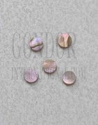 1pc Red abalone dots 3.97x1.3mm