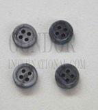 1pc Fresh Water Pearl button grey 4H 16Lx3mm