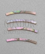 1pc Red abalone strips curved 1.6x24x1.5x76.2mm