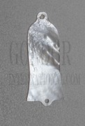 1pc White MOP Truss rod cover 29x60x1.5mm