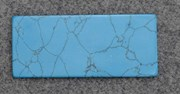 1pc Turquoise CH2A6 reconstituted stone blanks polished 30x70x1.5mm
