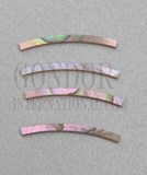 1pc Red abalone strips curved 3.17x25x1.3x120mm