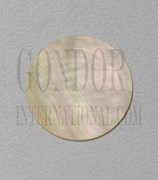 1pc Gold MOP discs polished 1 side 40.5 x 0.3mm