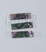 1pc Green abalone blanks heart 8.5x30x1mm
