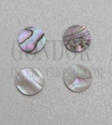1pc Red abalone dots 6.35mm (1/4