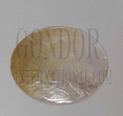 1pc Mother of Pearl polished ovals 90x115mm