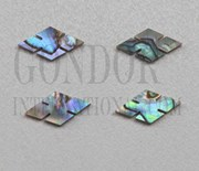 1pc Paua notched diamonds 14.5x7.5x1.5mm