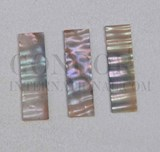 1pc Green abalone blanks rippled 8.5x30x1mm