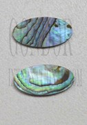 1pc Paua oval blanks 8x20x1.5mm