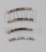 1pc Green abalone strips curved 2.5x25x1.5x125mm