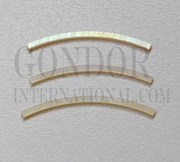1pc Gold MOP strips curved 1.6x25x1.3x120mm