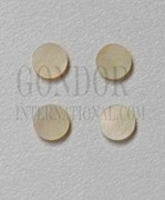 1pc Gold MOP dots 14.28 x 1.3mm