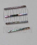 1pc Green abalone strips straight 1.5x25.4x1.3mm
