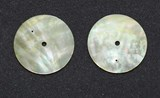 1pc Gold MOP discs polished 2 hole 37 x 0.4mm