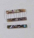 1pc Green abalone strips straight 3.5x25x1.3mm