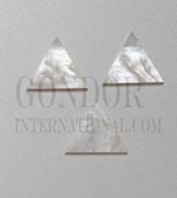 1pc White MOP inlay triangle 25x1.5mm