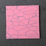 1pc Pink stone CH2B4 reconstituted stone polished 50x50x1.5mm