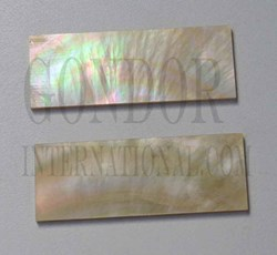 1pc Gold MOP inlay feather blanks 33x95-110x1.6mm