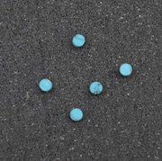 1pc Turquoise CH2A6 dots 2.5 x 1.3mm