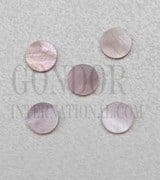 1pc Pink Mussel dots 6x1.3mm
