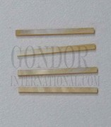 1 inch Gold MOP strips straight 1.2xRx1.3mm
