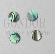 1pc Paua dots 6.5x1.3mm B grade