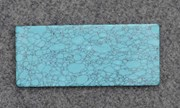 1pc Turquoise B1 reconstituted stone blanks polished 30x70x1.5mm