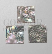 1pc Red abalone blanks heart 50x50x1.5mm