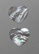 1pc White MOP cabochon heart 30x33x2.5mm