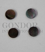 1pc Black MOP dots 6x1.3mm