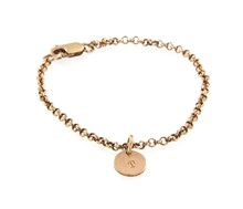 9ct Rose gold Alphabet charm bracelet.
