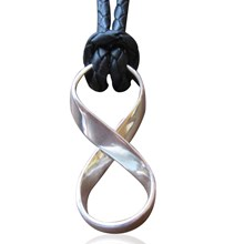 Infinity Symbol with leather Necklace