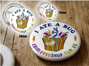 I Ate A Bug! Button Pin