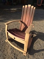 Wine Barrel Rocker