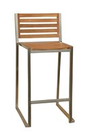 Teak Stripe Bar Stool