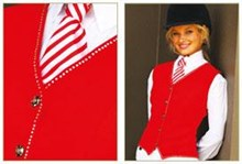 Show Vest with Crystal Trim