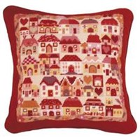 Patchwork Village Tapestry Kit - Jolly Red