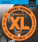 D'ADDARIO EXL160-5 Bass Strings 50-135