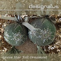 GREEN STAR FELT ORNAMENT - Designatus Designs