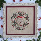 ROBIN'S CHRISTMAS WREATH - Filigram Cross Stitch