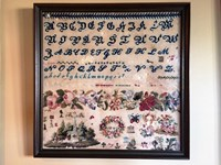 BAND OF ROSES 1845 Antique Sampler - Cross Stitch Antiques