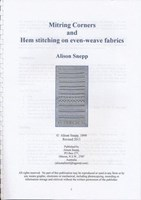 Mitring Corners and Hem stitching on Even-weave fabrics - Alison Snepp