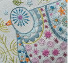 NANCY NICHOLSON CUSHION SEW KIT - Pigeon
