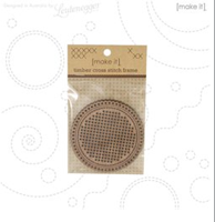 MAKE IT - CROSS STITCH TIMBER CIRCLE SHAPE