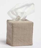 LINEN TISSUE BOX COVER - Small