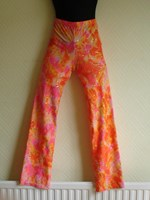 Orange/multi Nylon / lycra jazz pants Size 3 (Dress Size 8-10) only