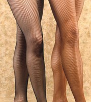 Fishnet Tights - Black and Brown